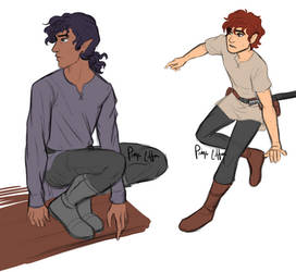 Kyan and Adrien studies by paigemichael