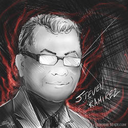 Portrait: Horror Author Steven Ramirez by JAndromeda