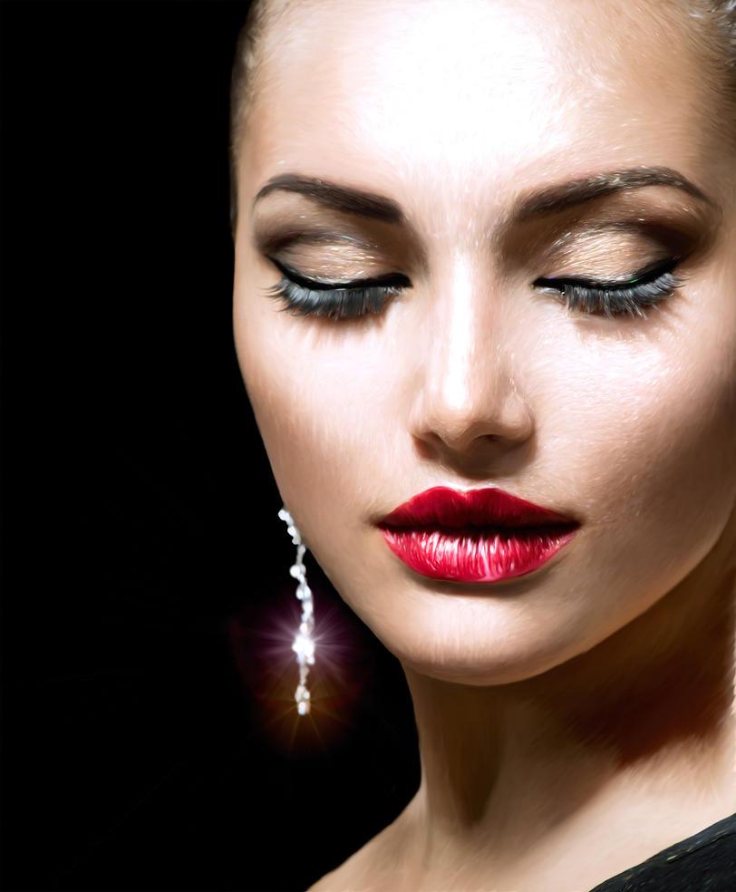 Девушка макияж красивый фото