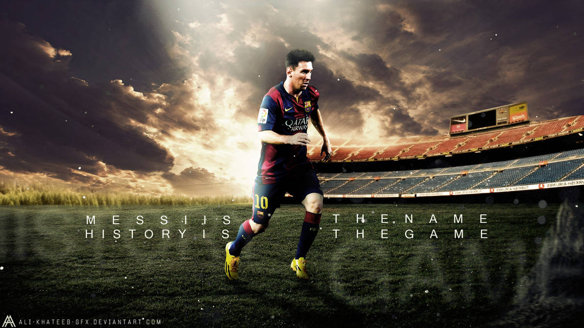 Leo Messi Hd Wallpaper F C Barcelona By Ali Khateeb Gfx On Deviantart