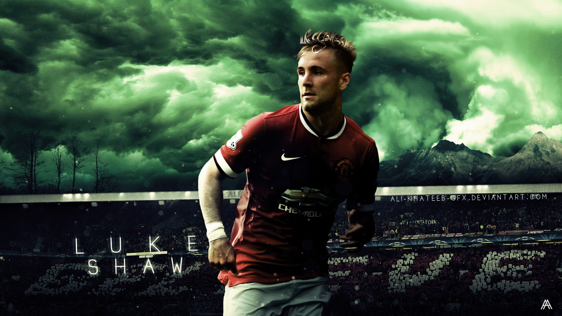 Manchester United Luke_shaw__manu__hd_wallpaper_by_ali_khateeb_gfx-d8arta3
