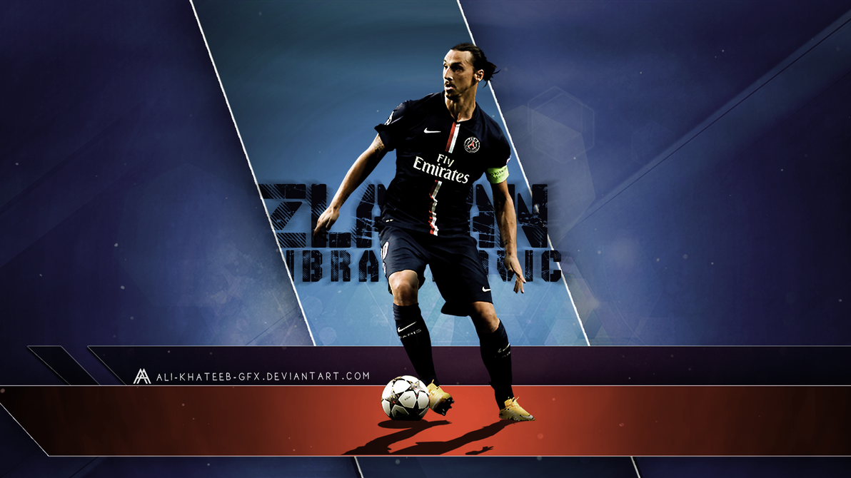 Zlatan Ibrahimovic PSG HD Wallpaper By Ali Khateeb Gfx