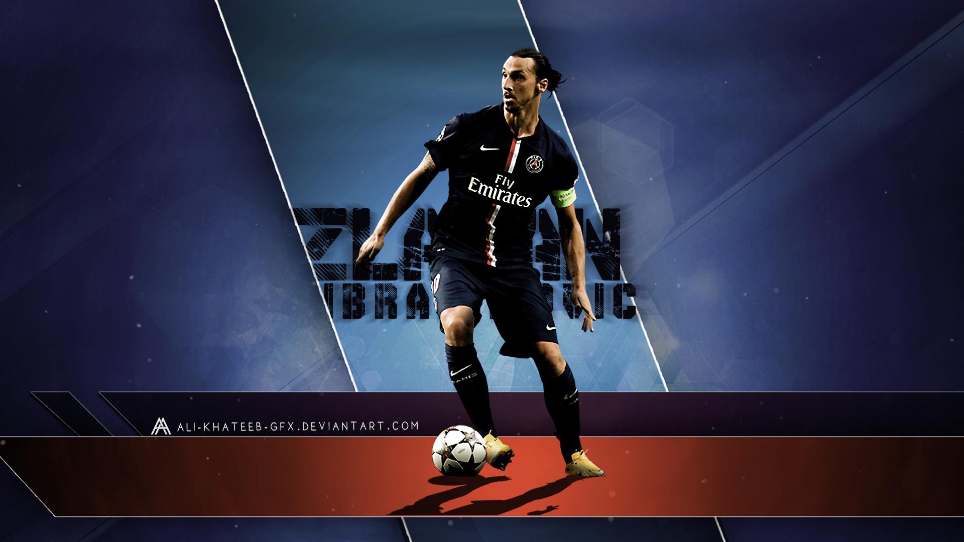 Zlatan Ibrahimovic PSG HD Wallpaper By Ali Khateeb Gfx