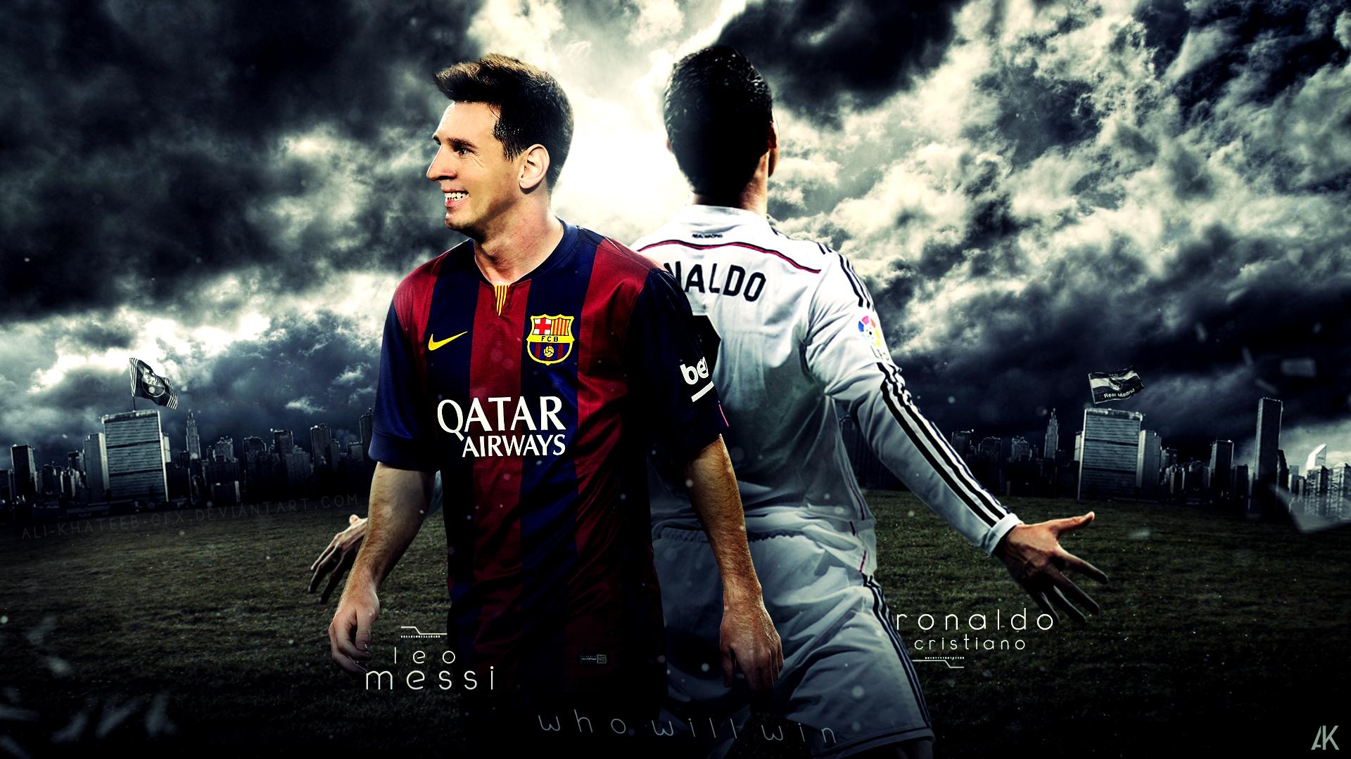 Cristiano Ronaldo And Leo Messi By Ali Khateeb Gfx On Deviantart