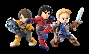 Super Smash Bros. Ultimate - 51-53. Mii Fighters