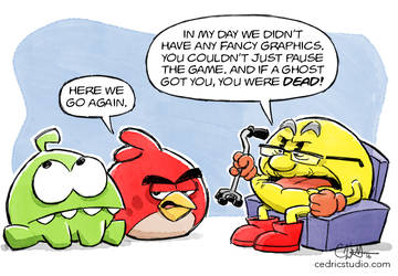 Meanwhile at the Video Game Retirement Home... by cedricstudio