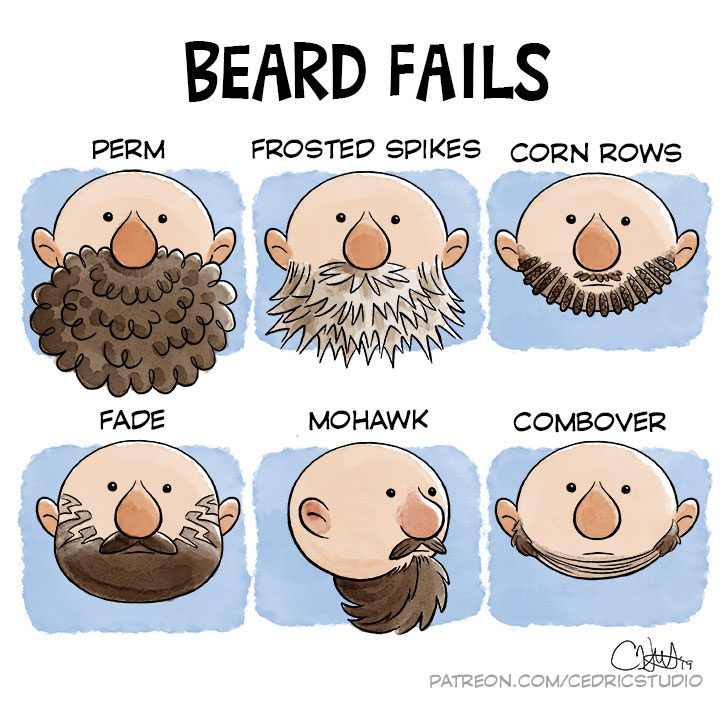 Beard Fails by cedricstudio
