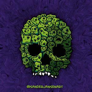 Skull of blobs