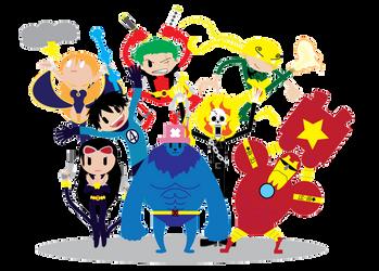 Marvel X One Piece by silverfox17x
