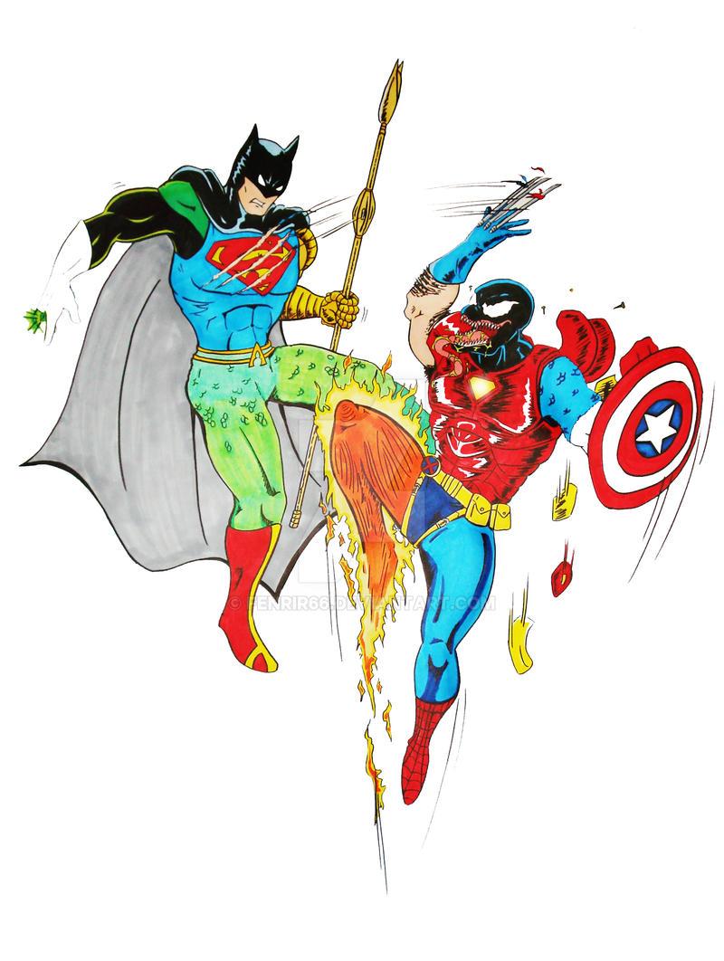 DC vs. Marvel Mix Up by fenrir66