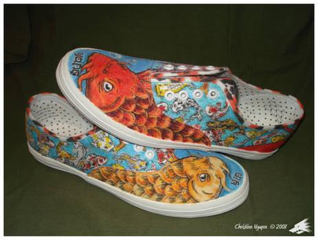 Koi Love Pair Shoes