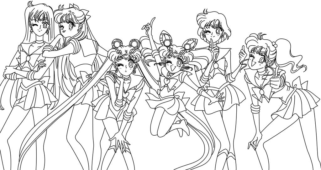 sailor moon coloring page - inners colouring blank by sailor jade iris on deviantart