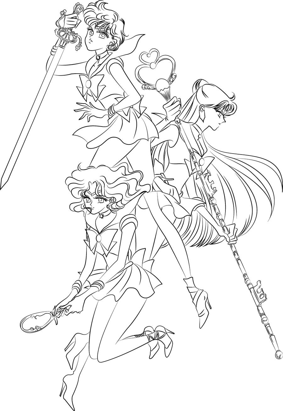 Princess serenity coloring pages -  Coloring Blank Outers By Sailor Jade Iris