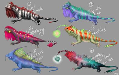 Iguana Adoptables [Open] by J-Grey