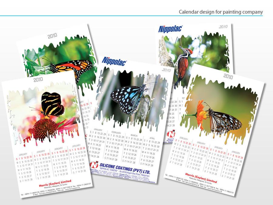 Calendar Typography Gear : Calendar design by karunarathne on deviantart