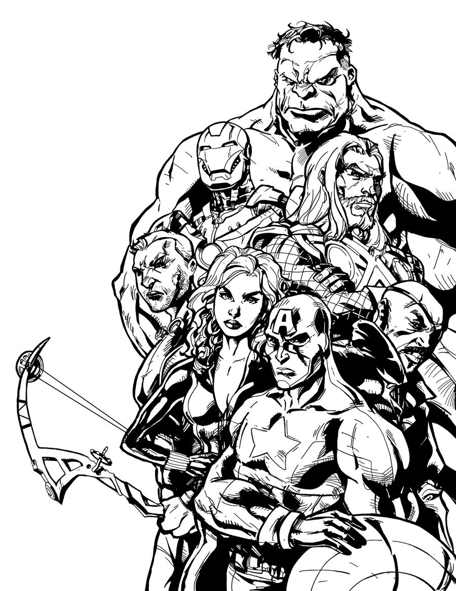 Avengers Group Coloring Pages : The avengers group coloring pages