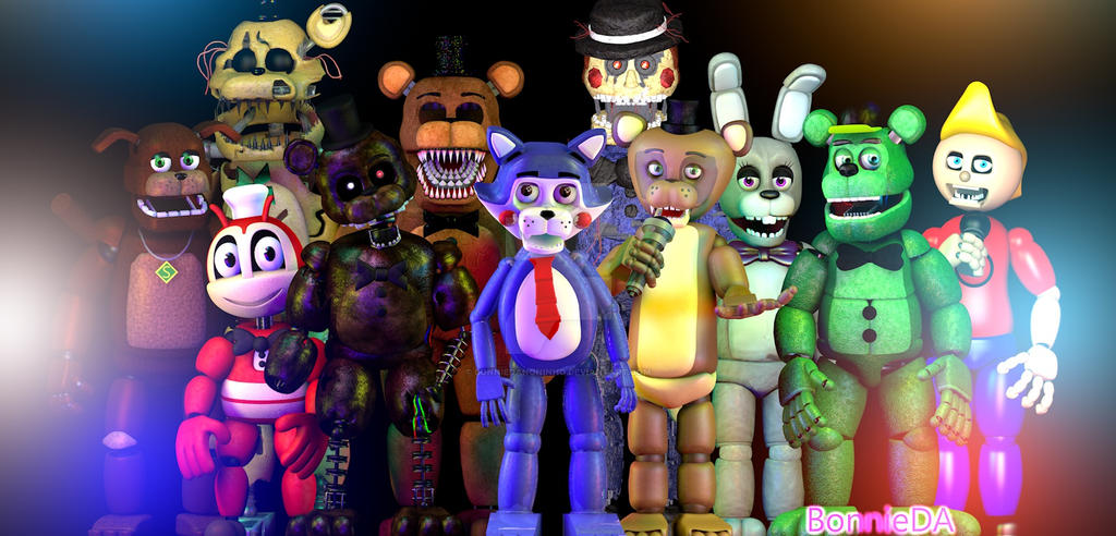 C4D/FNaF] The Fan-Games by BonnieDanoninho on DeviantArt