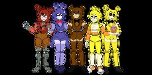 [Fnaf1] Genderbender by YumeChii-NI