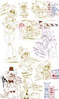 [Fnaf] Chica Sketches by YumeChii-NI