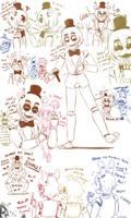 [Fnaf] Freddy sketches by YumeChii-NI
