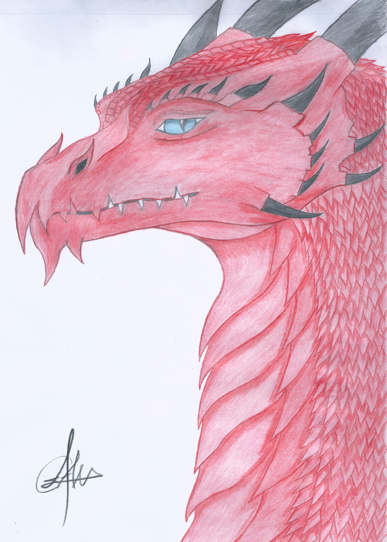 Zefir the red dragon by Antonywolf97