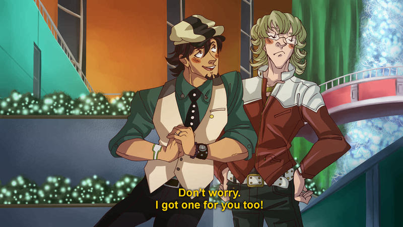 Tiger and Bunny Screenshot Redraw by xmoonlitxdreamx