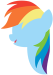 Rainbow Dash Lineless Headshot