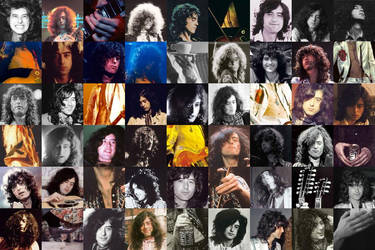 Jimmy Page: His many faces... by manga-meloney