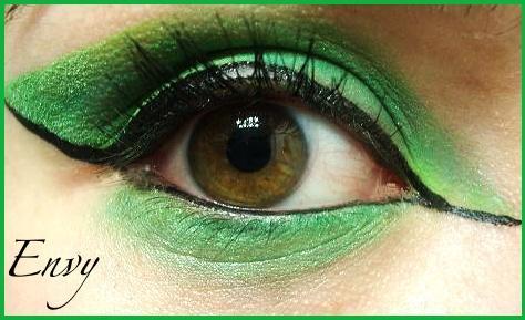 7 Deadly Sins Makeup: Envy by Steffmiesterx13