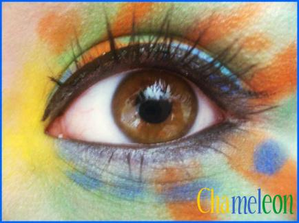 Animal Print Makeup: Chameleon by Steffmiesterx13