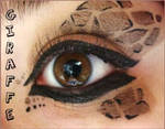 Animal Print Makeup: Giraffe