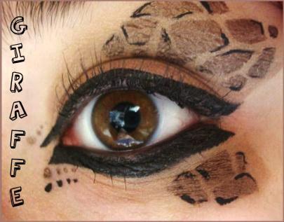 Animal Print Makeup: Giraffe by Steffmiesterx13