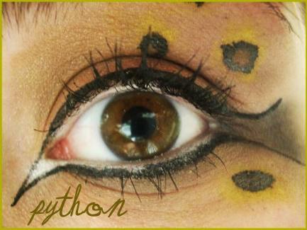 Animal Print Makeup: Python by Steffmiesterx13