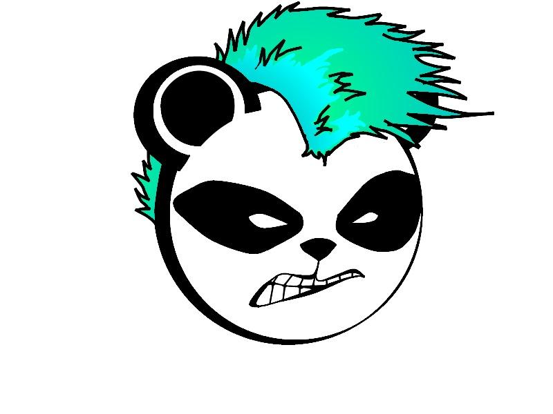 Panda Logo Punk panda logo spiked by