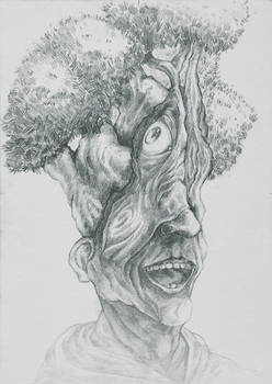 a man who grows a tree out of his head