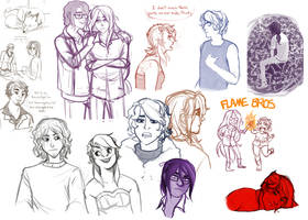 Insaneographic Sketchpile :: FLAME BROS