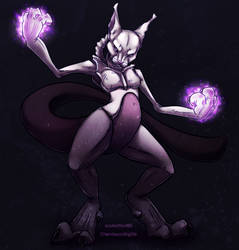 Mewtwo colored by soulwithin465