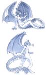 Weredragon Sketches