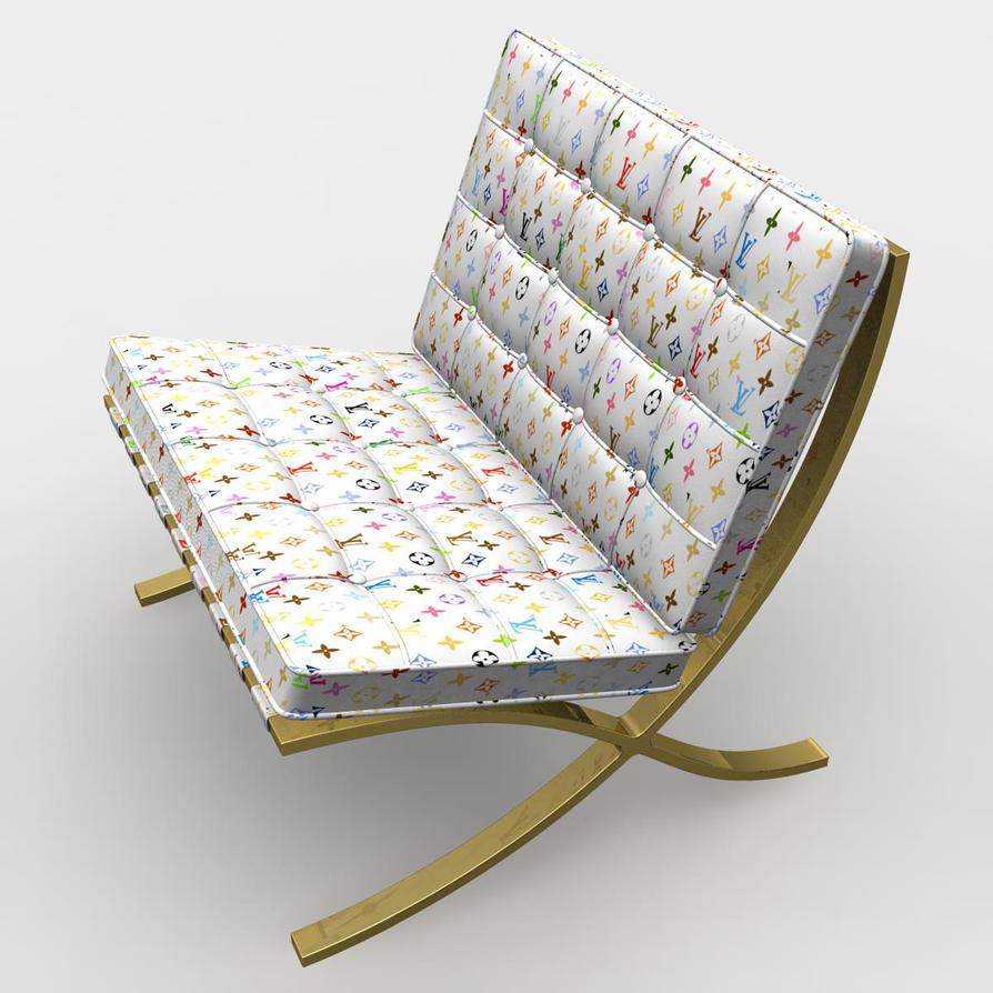 barcelona chair louis vuitton by lunpi on deviantart. Black Bedroom Furniture Sets. Home Design Ideas