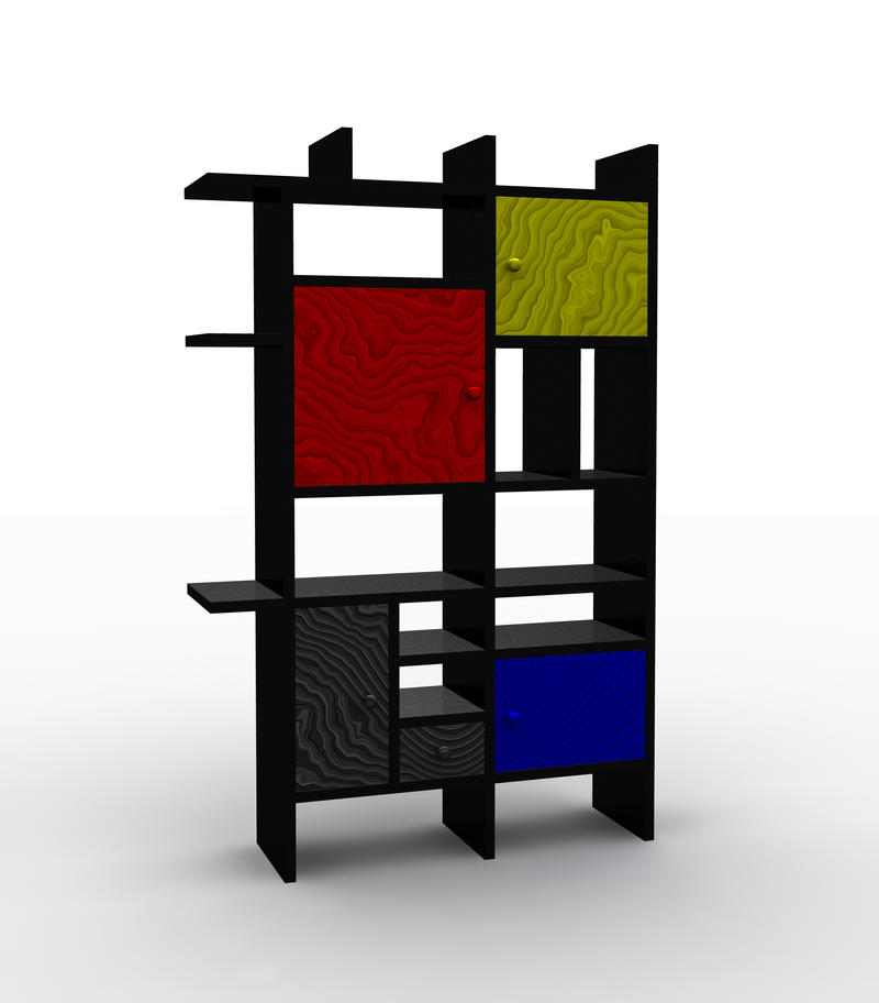 Mondrian's Bookshelf by Lunpi ...