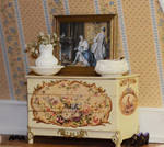 Miniature painted chest of drawers