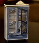 The Blue Armoire - dollhouse miniature