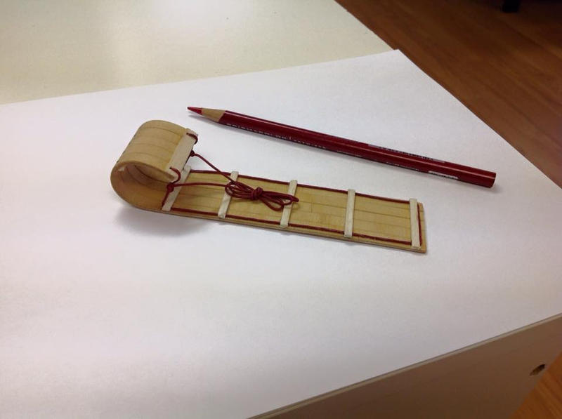 old-fashioned toboggan - 1/12th scale by SRKminiature