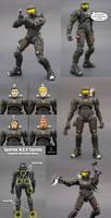 Black Armor Spartan MK VI by Jin-Saotome