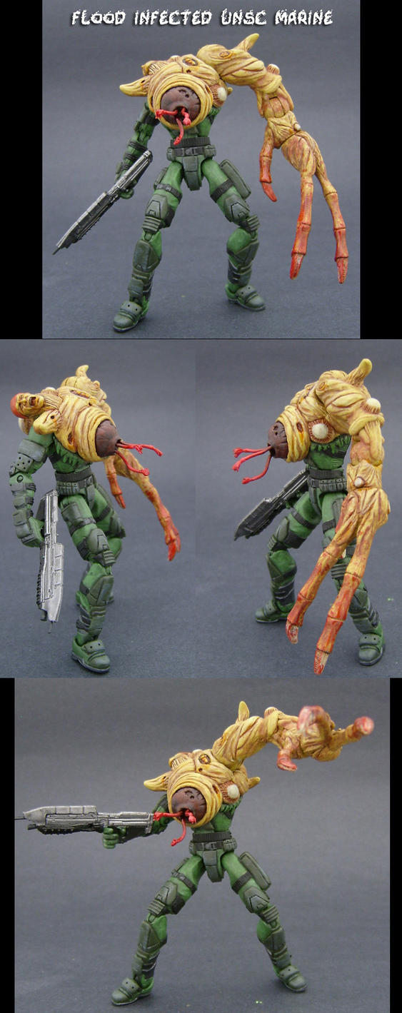 Flood Infected UNSC Marine by Jin-Saotome