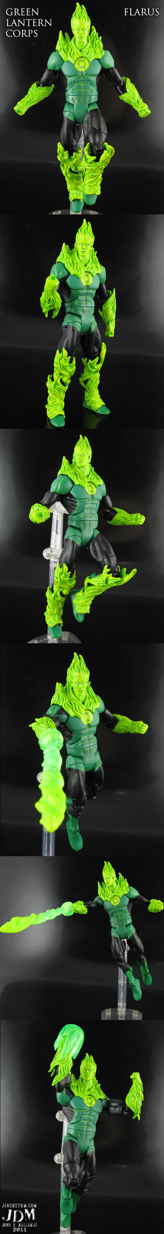Green Lantern Corps Flarus by Jin-Saotome