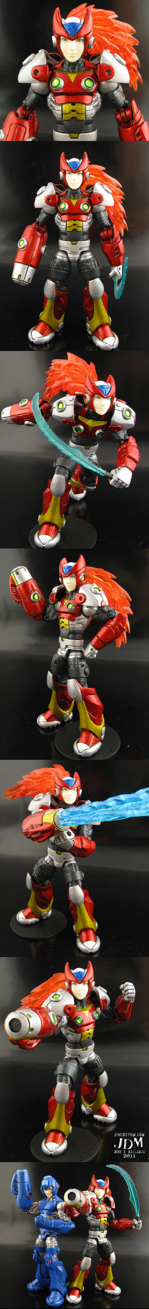 Marvel Legends style Zero from Megaman by Jin-Saotome
