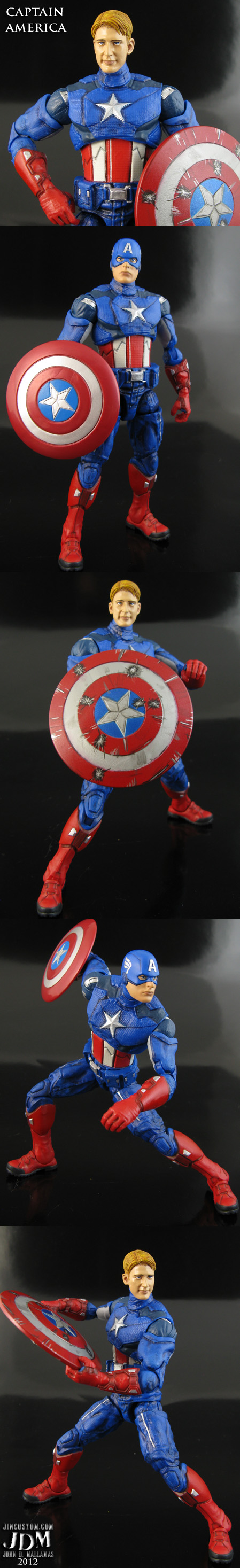 Custom Captain America Avengers movie figure by Jin-Saotome