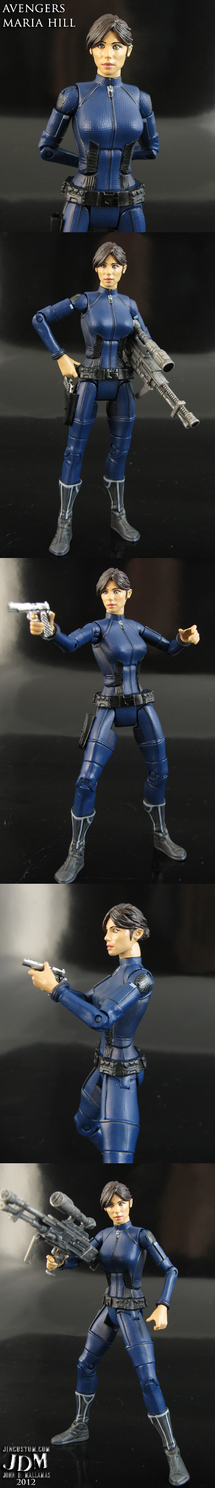 Avengers Commander Maria Hill figure by Jin-Saotome