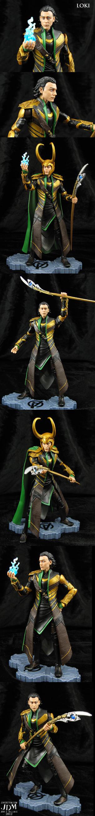Custom Avengers Movie Loki with wispy hair tips by Jin-Saotome